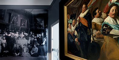 Exhibition photo from Frans Hals and the Moderns.